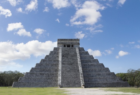 eschatology: time-lapse of the mayan ruins at chichen itza, mexico. the mayans believe that transformative events will occur on 21 december 2012