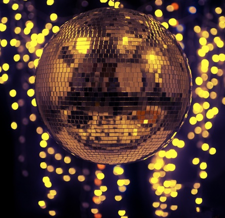 discoball: discoball with cool abstract light background Stock Photo
