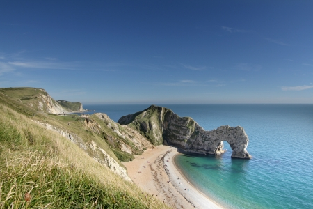 the stunning coastline at durdle door on the dorset coast, england