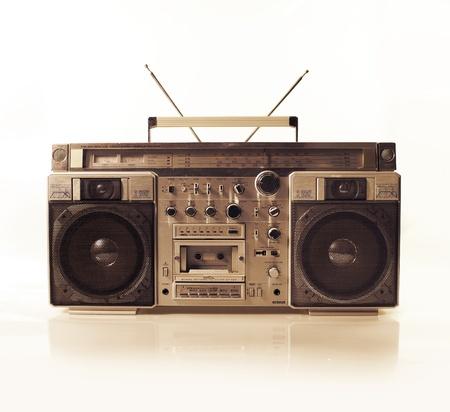 vj: un fantastico cercando retr� ghetto blaster Radio