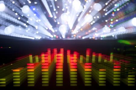 equipo de sonido: ecualizadores gr?ficos de m?sica y clips de an?lisis de audio. desde el despliegue de un sistema de alta fidelidad est?reo