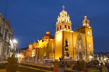 the iconic yellow church in guanajuato, mexico Editorial
