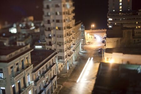 night shoot of havana center and the malecon, cuba photo