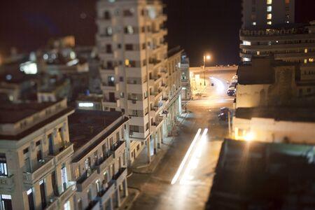castro: night shoot of havana center and the malecon, cuba Stock Photo
