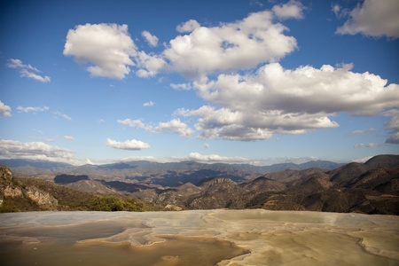 the unique and beautiful landscape of hierve el agua in oaxaca state, mexico Stock Photo - 16780881