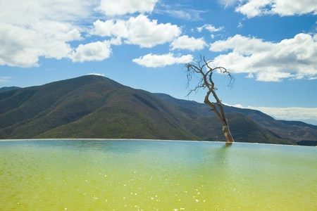the unique and beautiful landscape of hierve el agua in oaxaca state, mexico Stock Photo - 16781087