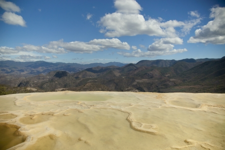 the unique and beautiful landscape of hierve el agua in oaxaca state, mexico Stock Photo - 16780725