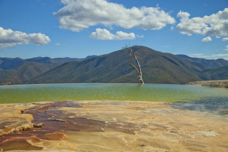 the unique and beautiful landscape of hierve el agua in oaxaca state, mexico Stock Photo - 16783249