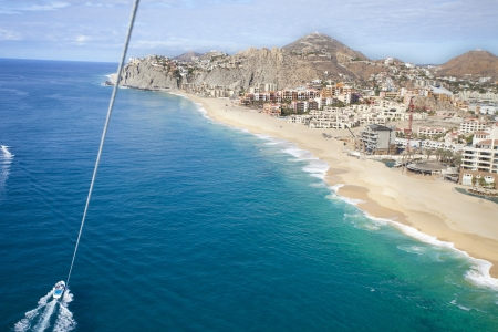 downloadable: beautiful shot in los cabo, baja california sur mexico where the desert reaches right down to the pacific ocean. there is an amazing quality of light around this area