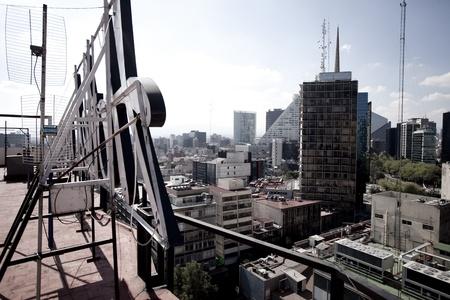 heaving: the mexico city skyline Stock Photo