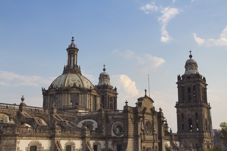 the main cathedral in mexico city, (located on the zocalo) photo