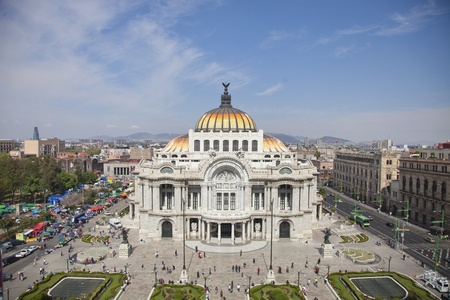 the impressive bellas artes building in mexico city