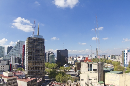 the mexico city skyline 報道画像