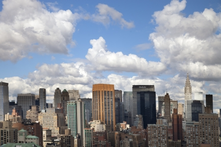 skycrapers and towers in manhattan skyline view