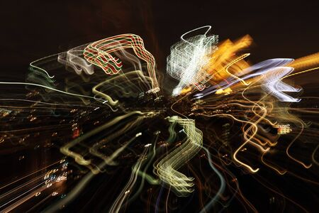 abstract light pattern made from city at night Stock Photo - 16785271