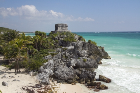 eschatology: time-lapse of the mayan ruins at tulum, mexico. the mayans believe that transformative events will occur on 21 december 2012