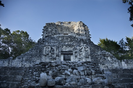eschatology: time-lapse of the mayan ruins at xpujil, mexico. the mayans believe that transformative events will occur on 21 december 2012