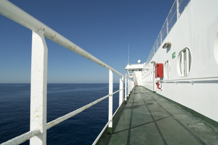 onboard: onboard ferry between ibiza and mallorca on a sunny day