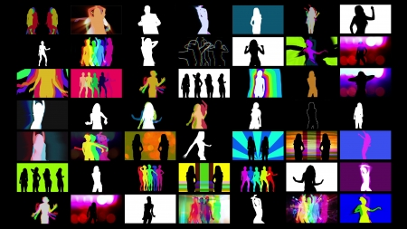 funk: compilation of shadow dancer images put together in a grid. all content is from my own collection