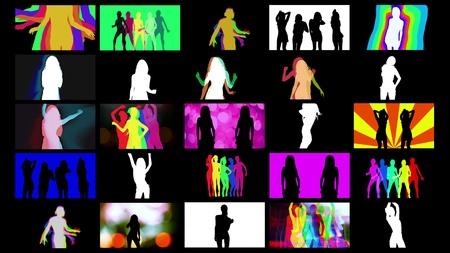 gogo girl: Zusammenstellung von shadow dancer Bilder zusammen in einem Raster. alle Inhalte ist aus meiner eigenen Sammlung