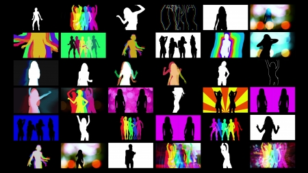 compilation of shadow dancer images put together in a grid. all content is from my own collection  photo