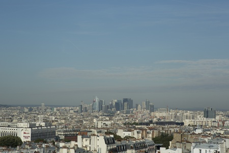 paris skyline looking towards la defence