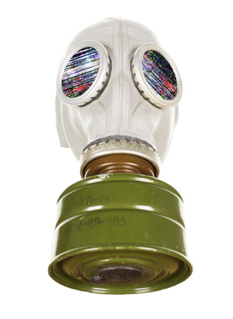 a gas mask on a mannequin head photo