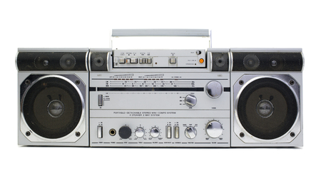 vintage radio: a fantastic looking retro ghetto blaster radio