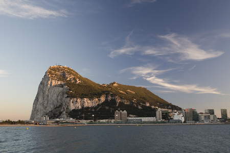 gibraltar: the rock of gibraltar in the late afternoon
