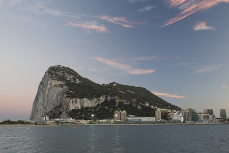 gibraltar: the rock of gibraltar at sunset Editorial