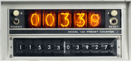 a scientific nixie counting machine photo