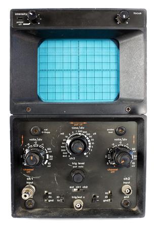 a scientific spectrum analyser / Oscilloscope machine Stock Photo - 27215685
