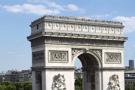 triumphe: the arc de triomphe in paris, france on a sunny day Stock Photo