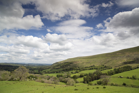 brecon beacons: beautiful welsh countryside in the brecon beacons on a summers day