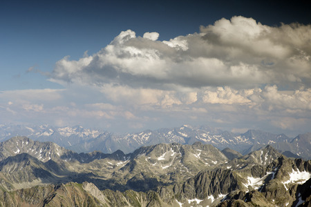 breathtaking: breathtaking view of pyrenees from pic du midi in france Stock Photo