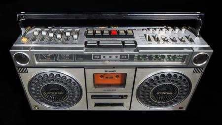 equipo de sonido: ghettoblaster est�reo de la vendimia retro fresco