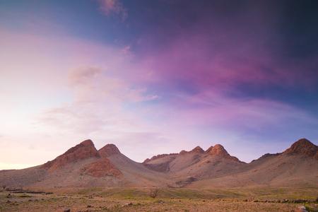 desierto del sahara: amazing mountains in the anti atlas, morocco landscape