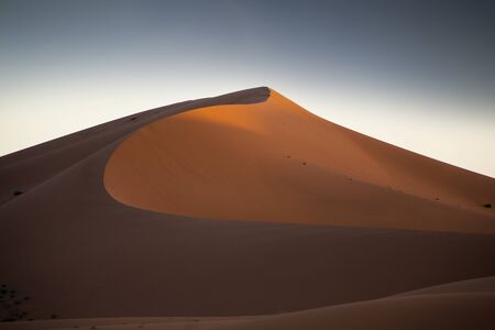 erg: the erg chigaga sand dunes in morocco Stock Photo