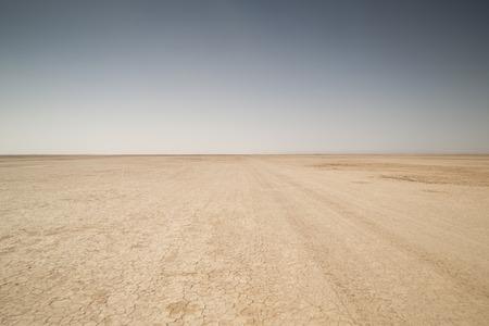 amazing dry lake sahara desert morocco Standard-Bild