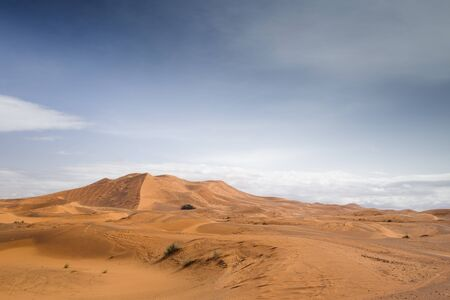 erg chebbi: the erg chebbi sand dunes in merzouga, morocco