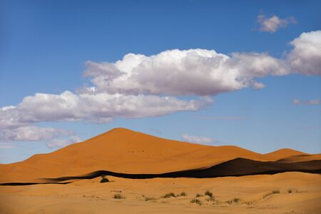 merzouga: the erg chebbi sand dunes in merzouga, morocco