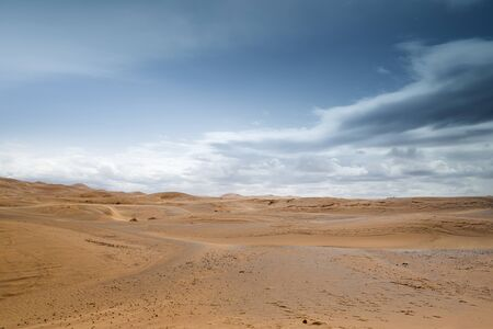 erg: the erg chebbi sand dunes in merzouga, morocco