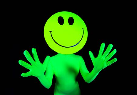 techno: sexy acid house smiley rave dancer