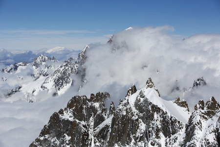 blanc: mont blanc in the french alps Stock Photo