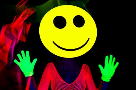 bizarre: sexy acid house smiley rave dancer