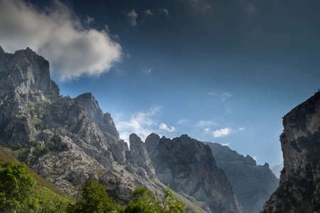 view of the mountains in the picos de europa, spain