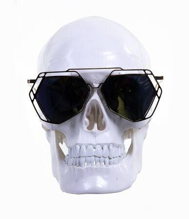 skull with cool sunglasses Imagens