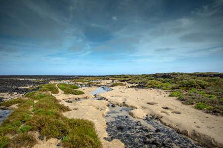 beach at caleton blanco lanzarote 스톡 콘텐츠