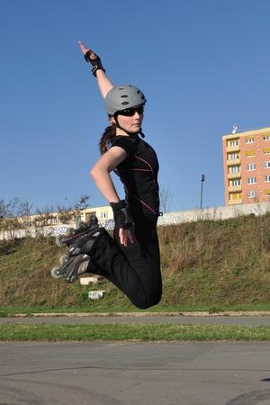 Skate roller jump photo