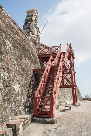 barajas: Cartagena, Colombia - 20 February, 2011 - San Felipe de Barajas castle Editorial